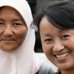 Deux Femmes Hui (l'ethnie Musulmane) à Yongping