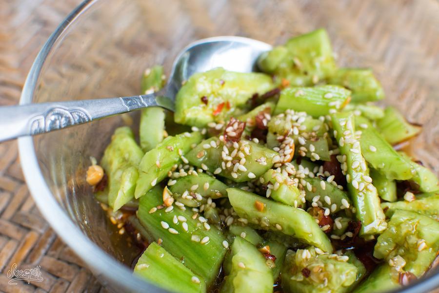 Salade De Concombres épicée