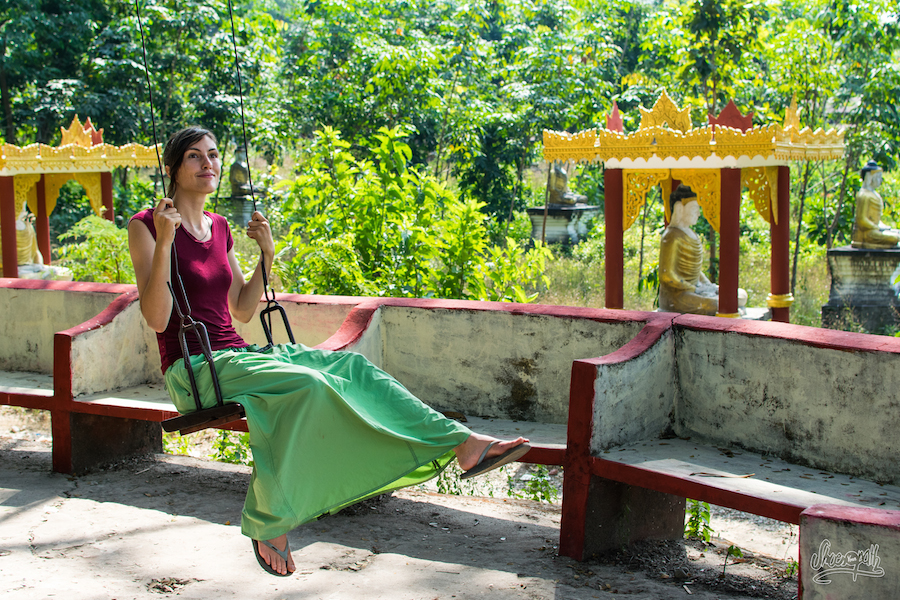 84 - At Lumbini Buddha garden, in Hpa An area, south Myanmar