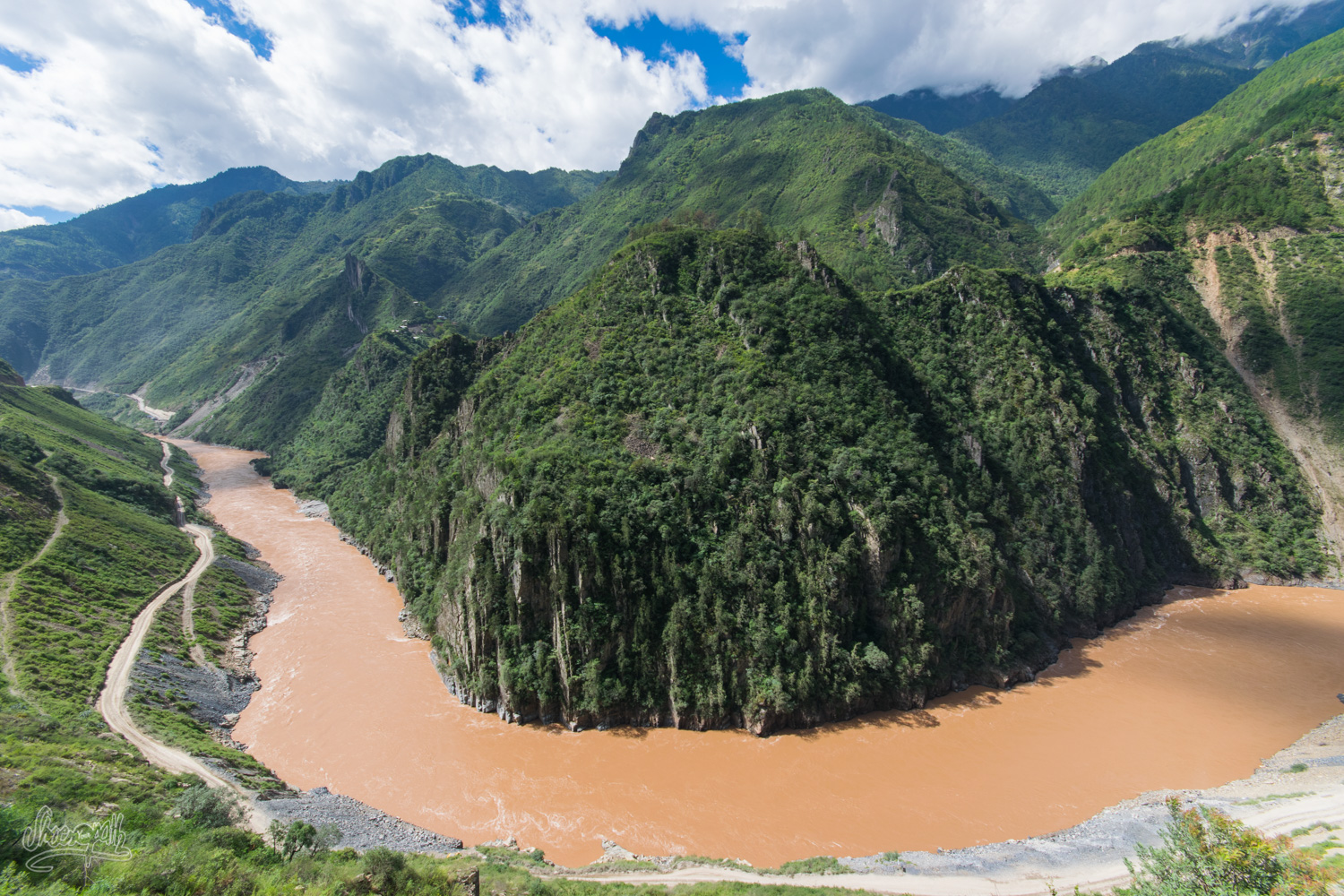The Mekong gorges, a few kilometers after Cizhong