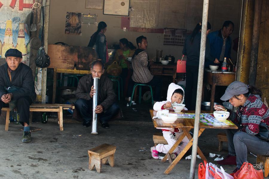 Scène de vie au Xishuangbanna