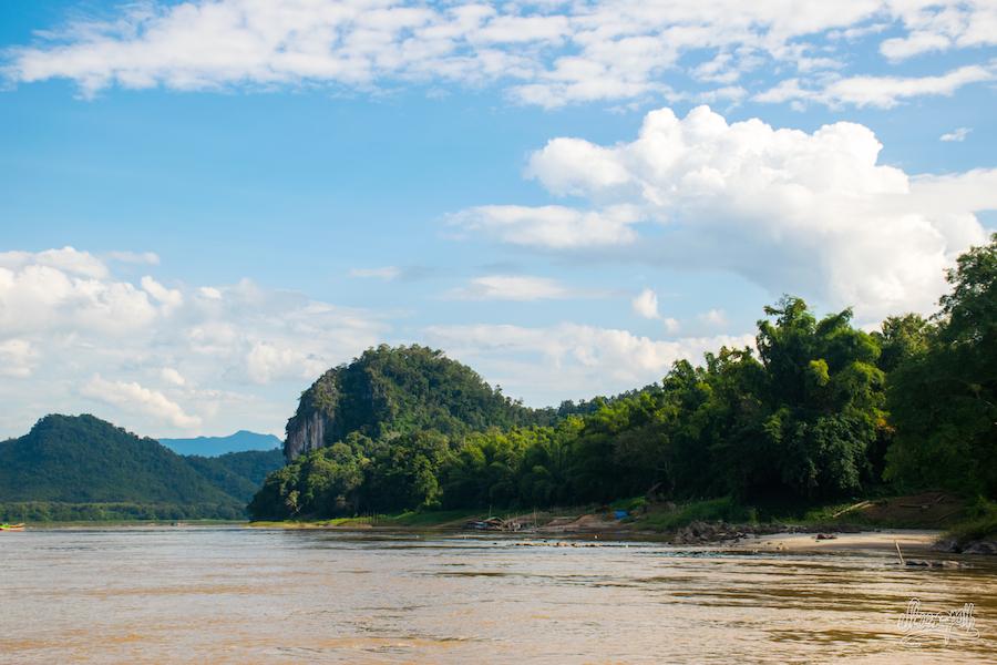 Les rives du Mékong durant la seconde journée.