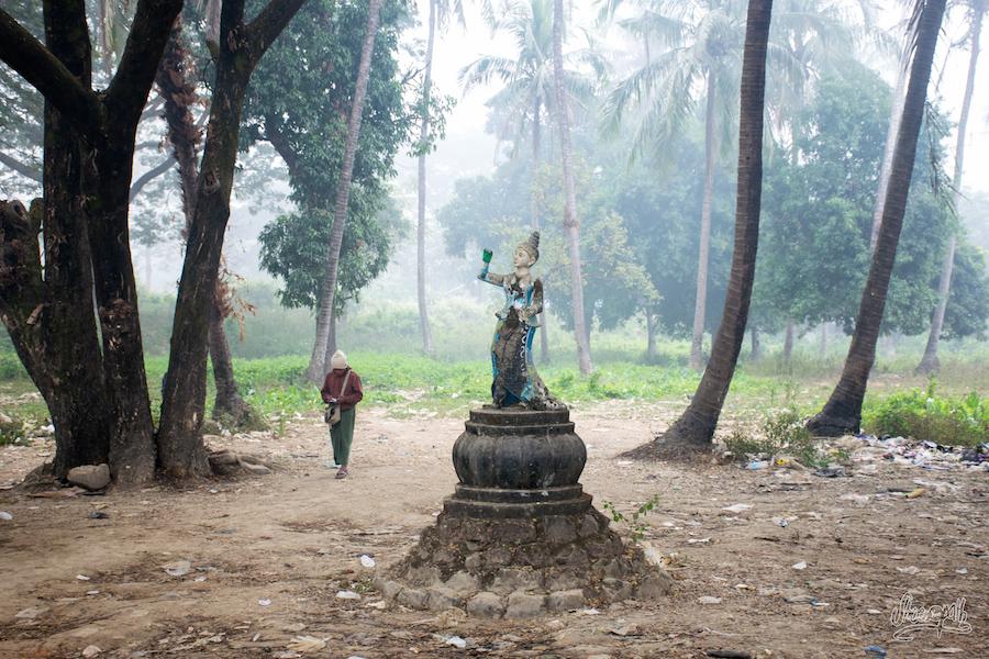 Un petit parc à Mrauk U