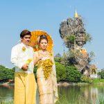Kyauk Kalap, est si célèbre que les couples viennent y faire leur photos de mariage