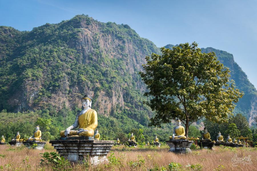 Le Jardin De Lumpini Et Ses Innombrables Bouddha