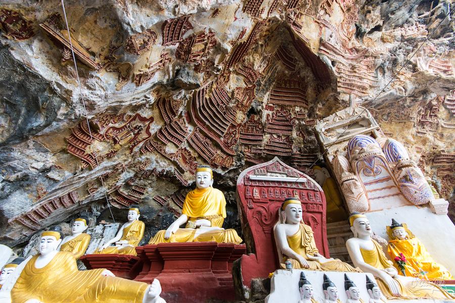 A L'entrée De Kaw Goon Cave