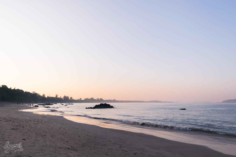 Lever de soleil sur Ngapali Beach