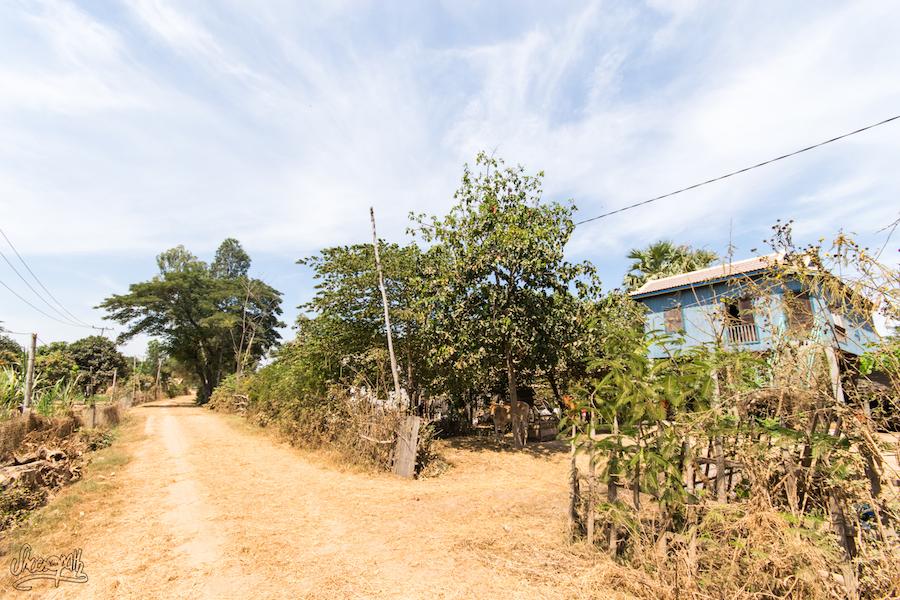 Notre quotidien au Cambodge : terre battue, poussière et jolies maisons