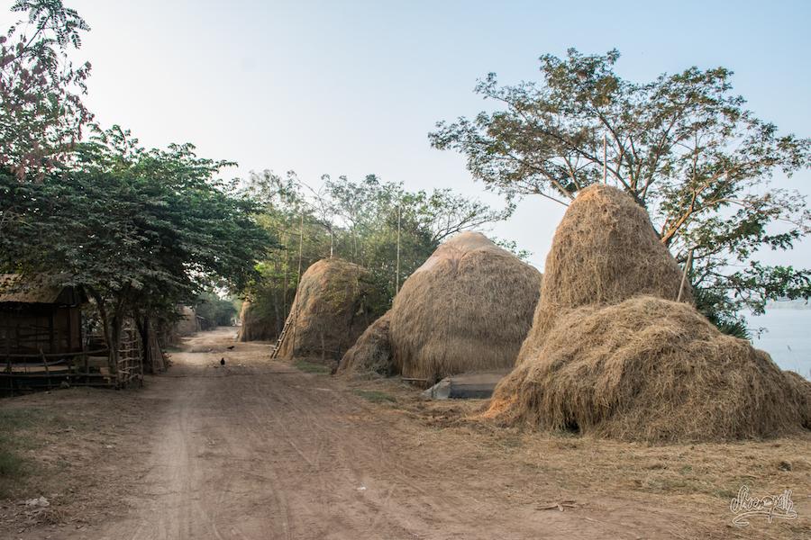 Premières lueurs du jour sur les bords du Mékong