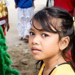 Jolie Petite Khmer à La Cérémonie Des Lions