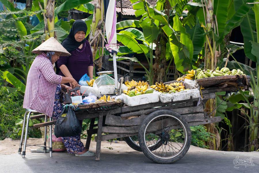 Marché Sur L'île Cham De Chau Doc