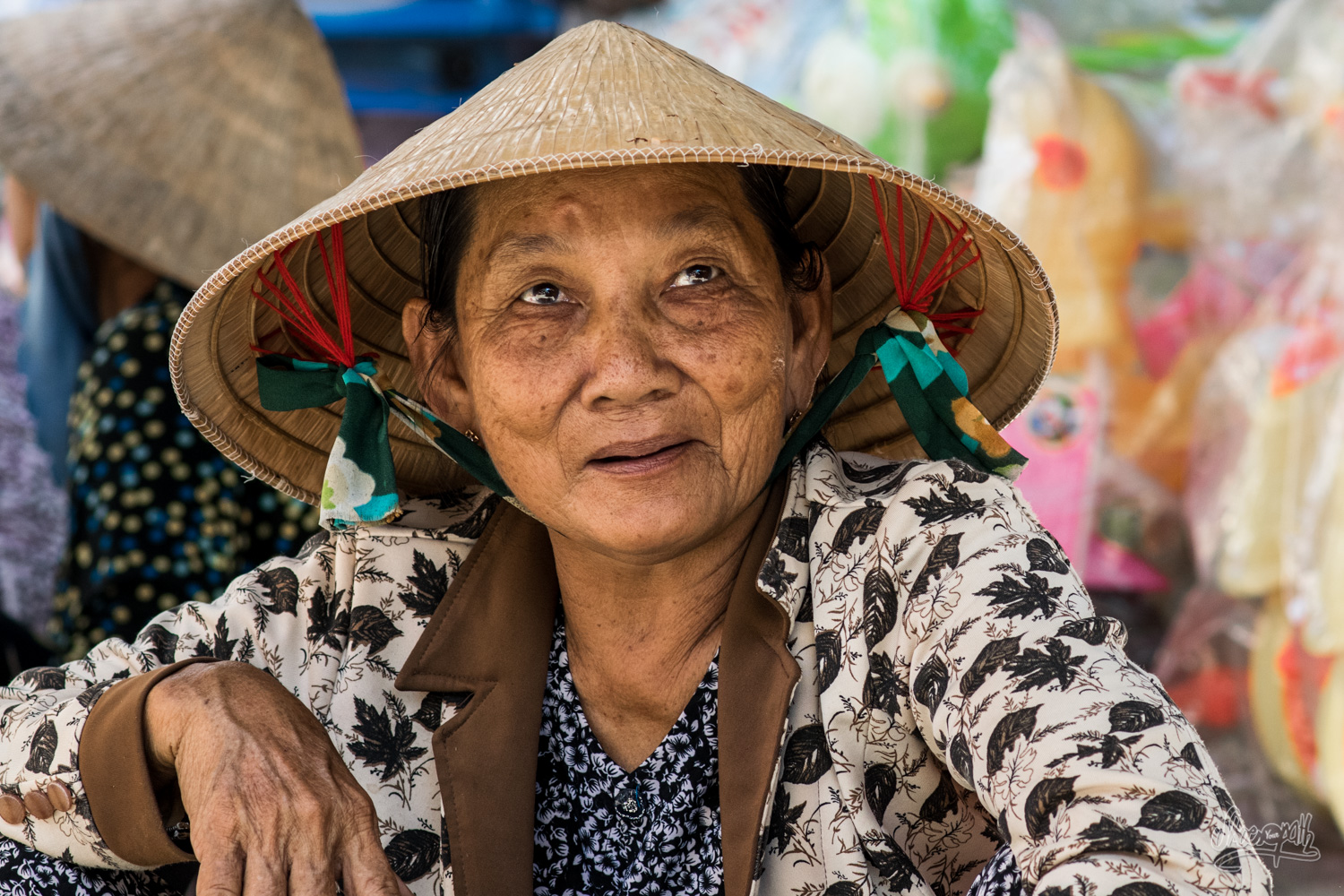 Smiling street seller in Chau Doc