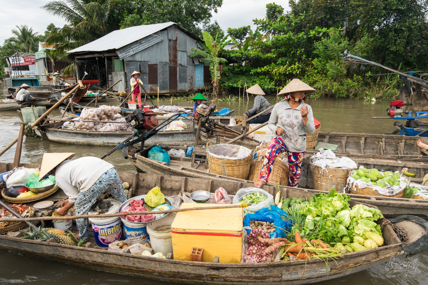 Another floating market in Can Tho