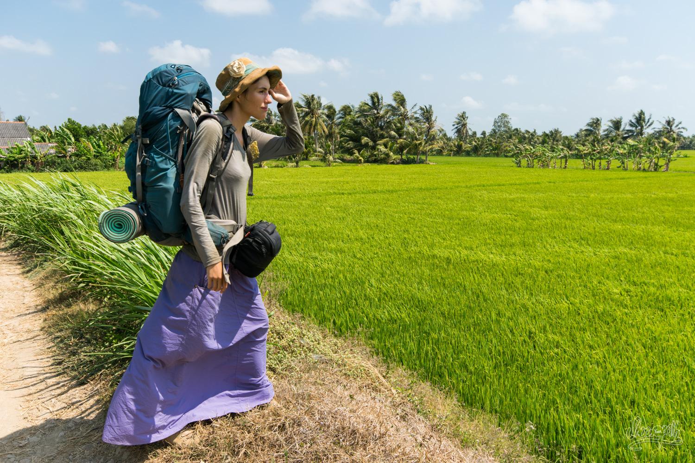 Au coeur des rizières du delta du Mékong, il faut tenter de se repérer pour s'orienter