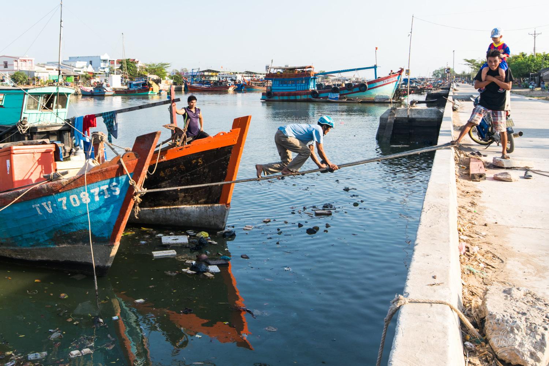 Le port de Dinh Van, même pas peur !