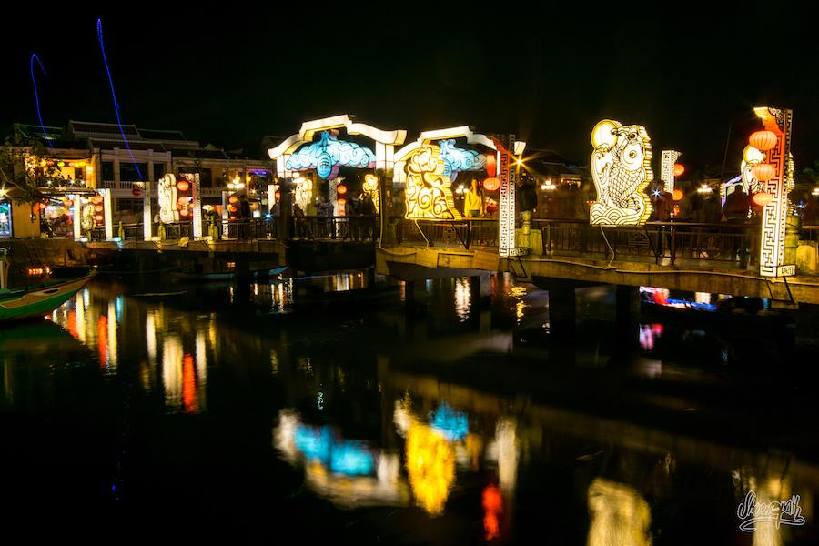 Le pont de Hoi An, illuminé