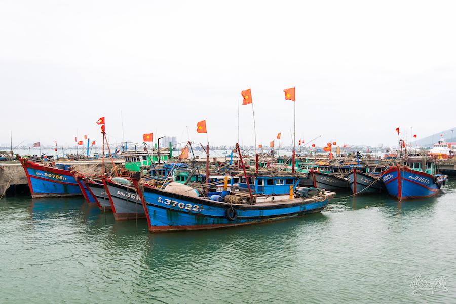 Un petit port sur la baie de Da Nang