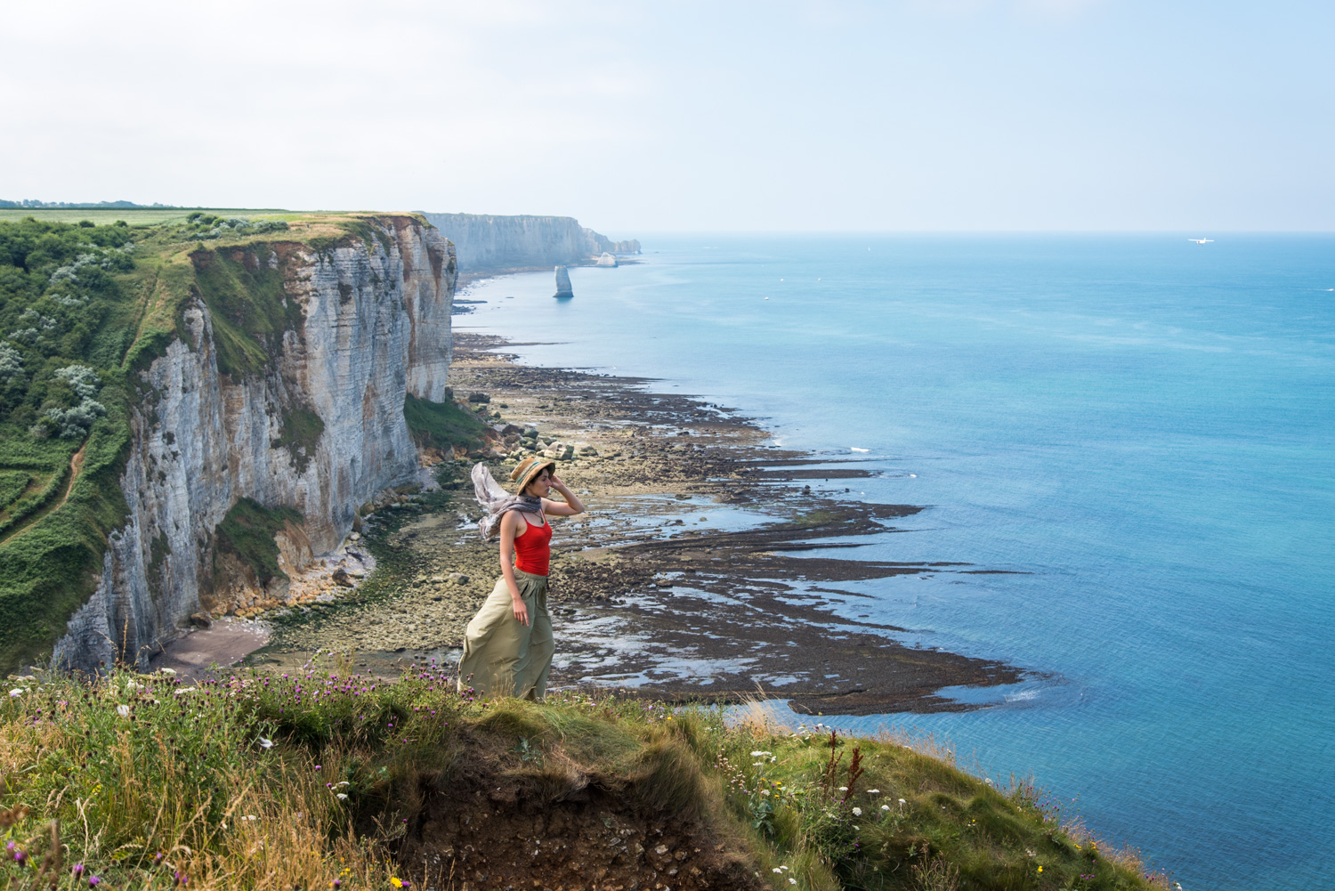 On the GR21 track between Yport and Etretat
