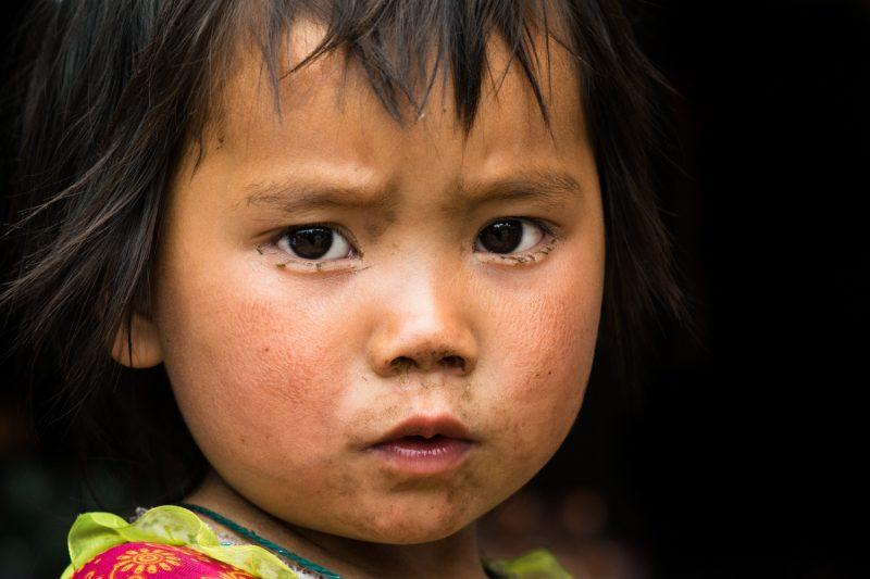 Serious Little Hmong