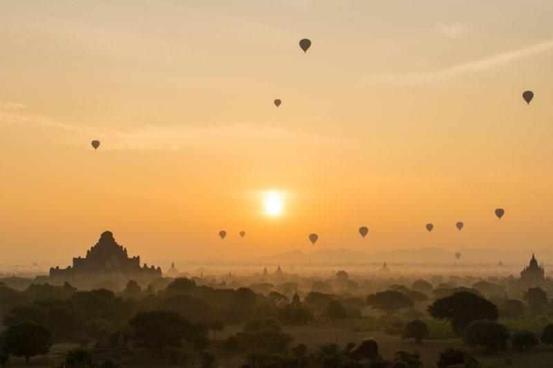 Balloon Sunrise Over Bagan