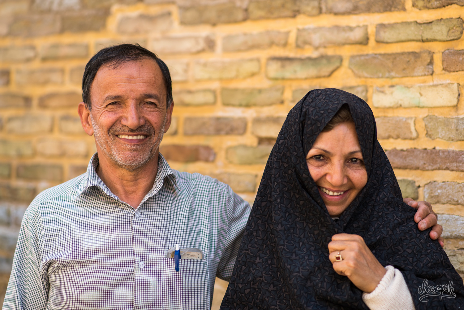 Portrait d'un couple d'iraniens traditionnels