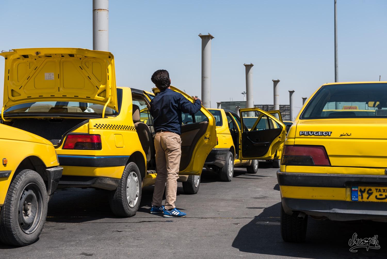 Iran - Teheran - Taxis du terminal ouest