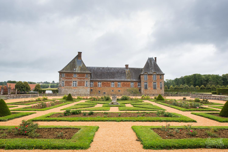 Les jardins à la française du château de Carrouges