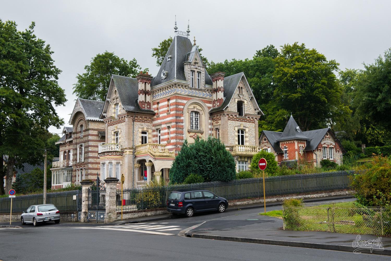 Le quartier des villas de Bagnoles-de-l'Orne