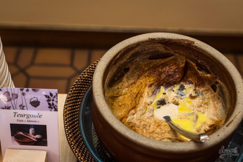 La Teurgoule, spécialité normande. Sorte de riz au lait sucré à la canelle, cuit durant 5h au four...