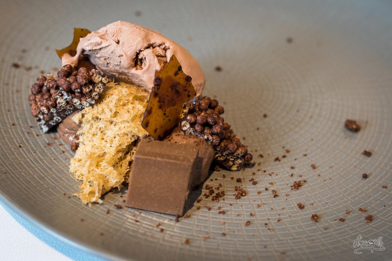 Dessert chocolat 1er cru de l'auberge de la Sélune à Ducey