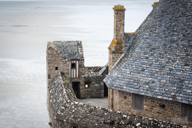 Au bout des remparts du Mont Saint-Michel