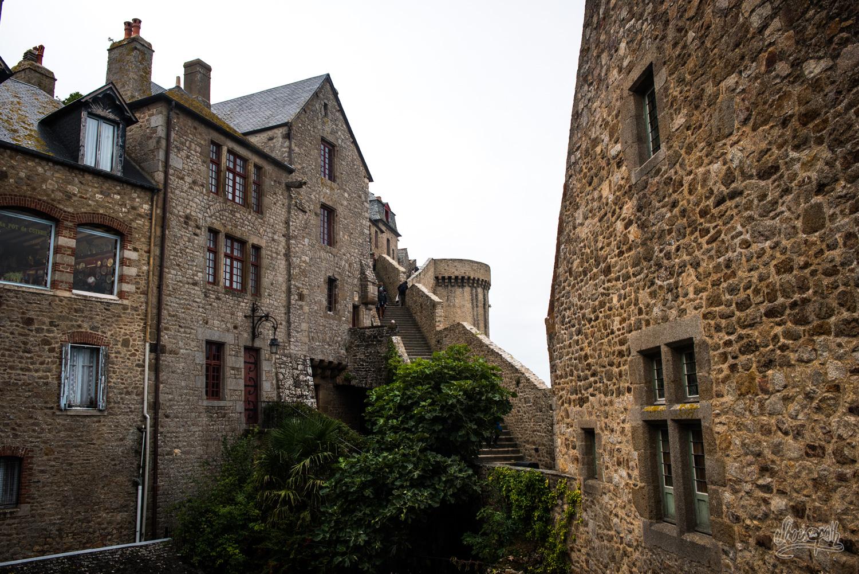 Dans les remparts du Mont Saint-Michel