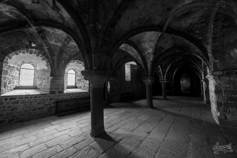 Dans les entrailles du Mont Saint-Michel