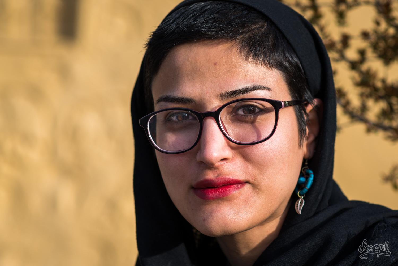 Maryam, une étudiante de Téhéran rencontrée alors que nous attendions le bus pour rentrer sur Shiraz