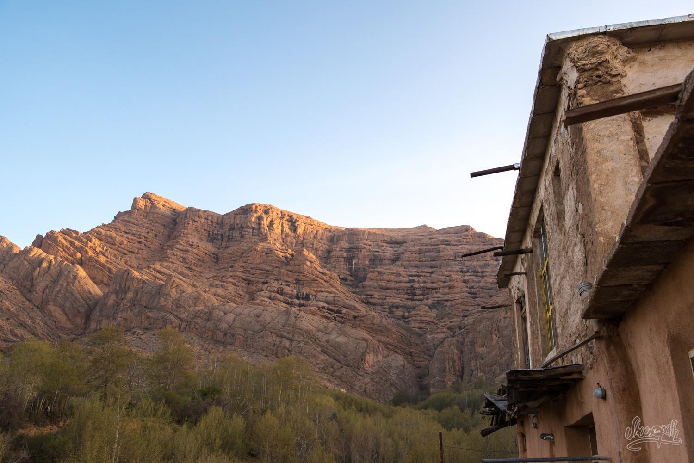 Iran - Les vues depuis les fenêtres des maisons du village