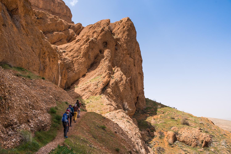 Randonnée en montagne à Ghalat, Iran