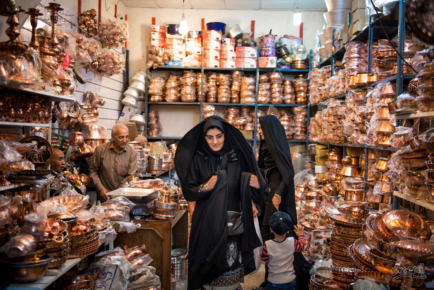 Shopping dans le bazar de Shiraz