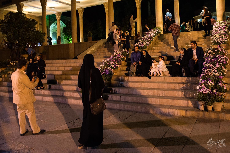 Sortie nocture au parc d'Hafez à Shiraz