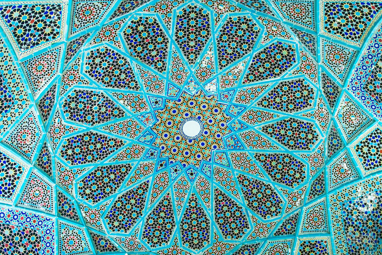 Mosaïque de la tombe d'Hafez à Shiraz