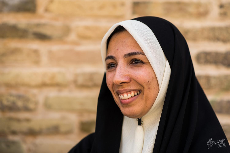 Portrait d'Iran - Une prof de math avec qui nous avons beaucoup échangé en anglais à la sortie de la visite du hamam