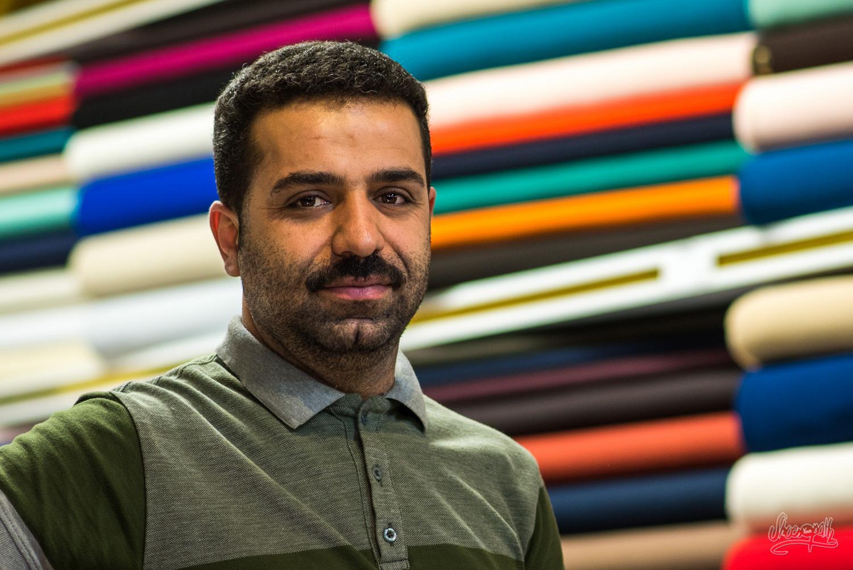 Portrait d'Iran - Un marchand d'étoffes dans le bazar de Shiraz