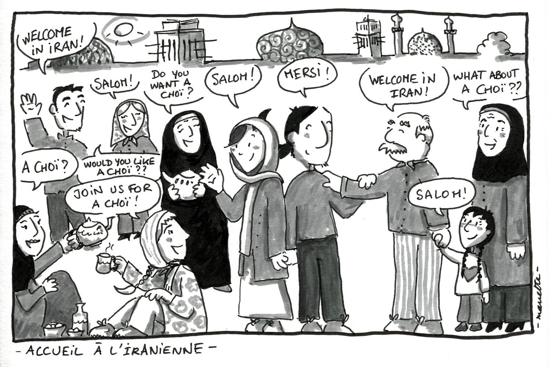 L'accueil à l'iranienne -Mariette-