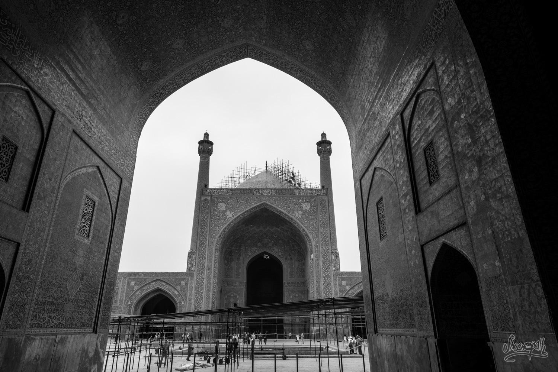 Entrée dans la Shah mosque