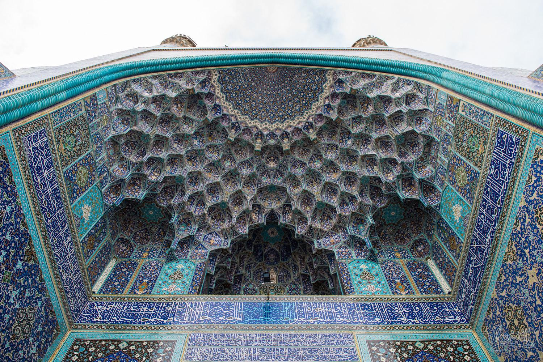 Les mosaïque de la porte de la Shah mosque