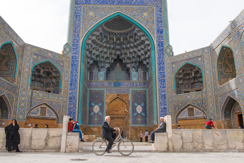 La porte de la Shah mosque