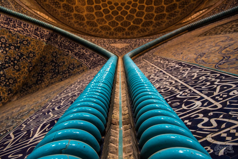 Les couloirs de la mosquée Sheikh Lotfallah