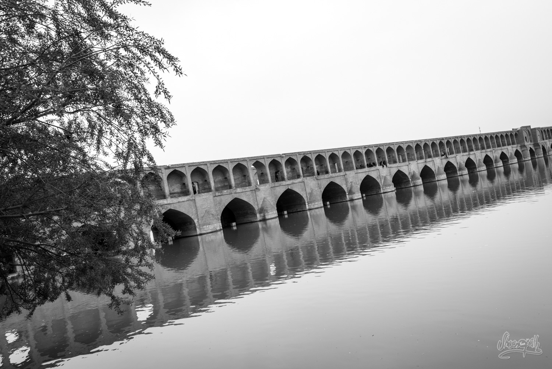 Le pont Si-O-Se-Pol d'Ispahan, Iran