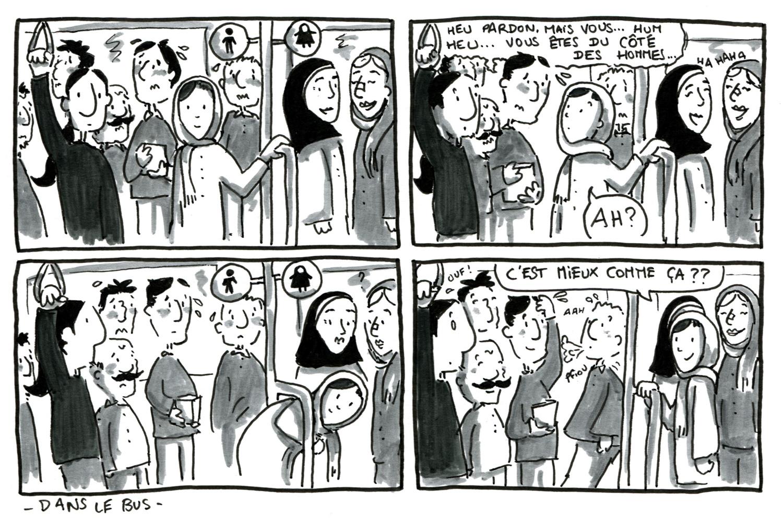 En BD... Dans le bus en Iran -mariette-