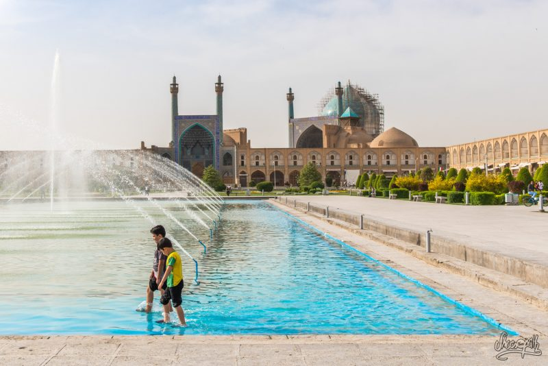 Jeux D'eau Sur La Place Naqsh-e-jahan