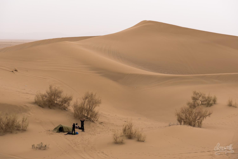 Dans le désert de Varzaneh